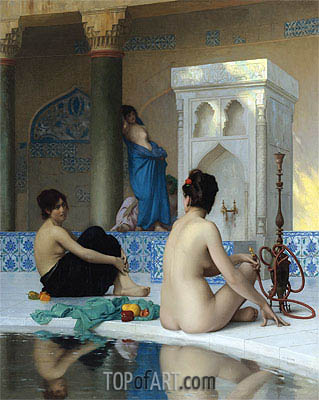 After the Bath, undated | Gerome | Painting Reproduction