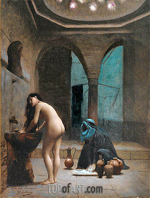 Moorish Bath (Turkish Woman Bathing), c.1870 | Gerome | Gemälde Reproduktion