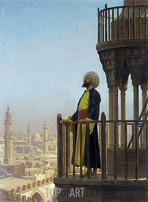 The Muezzin, undated | Gerome | Painting Reproduction