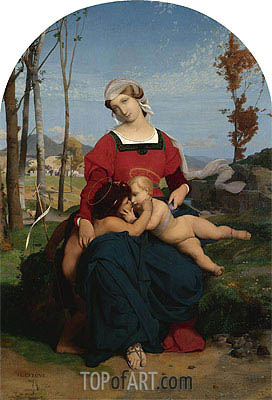 The Virgin and Child with Saint John the Baptist, 1848 | Gerome | Painting Reproduction