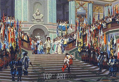 The Reception of the Grand Conde at Versailles, 1878 | Gerome| Painting Reproduction