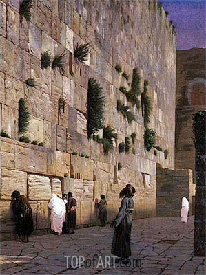 Solomon's Wall Jerusalem (The Wailing Wall), undated | Gerome| Painting Reproduction