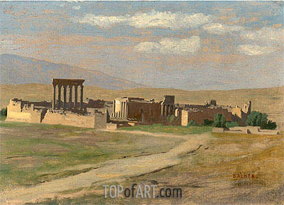 View of Baalbek, undated | Gerome | Painting Reproduction