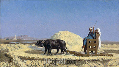 Egyptian Grain-Cutters, undated | Gerome | Painting Reproduction