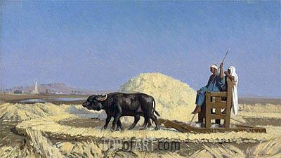 Gerome | Egyptian Grain-Cutters, undated
