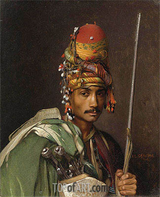 A Bashi-Bazouk, undated | Gerome| Painting Reproduction