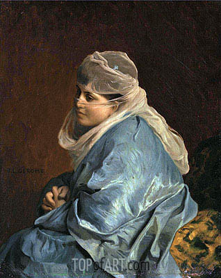 Woman of Constantinople, undated | Gerome| Painting Reproduction