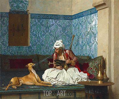 Gerome | A Joke (Arnaut Blowing Tobacco Smoke at the Nose of His Dog), 1882
