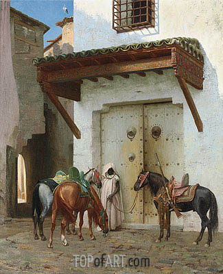 Horses Kept by a Slave, 1875 | Gerome| Painting Reproduction