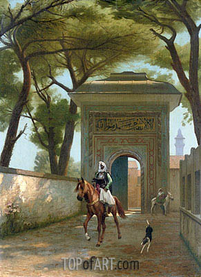 Return to the Palace, 1892 | Gerome | Painting Reproduction