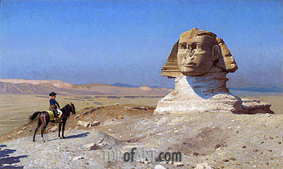 Napoleon Bonaparte Before the Sphinx, c.1867/68 | Gerome | Painting Reproduction