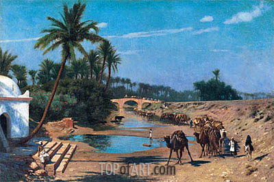 An Arab Caravan, undated | Gerome | Painting Reproduction