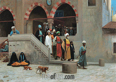 Leaving the Mosque, undated | Gerome | Painting Reproduction