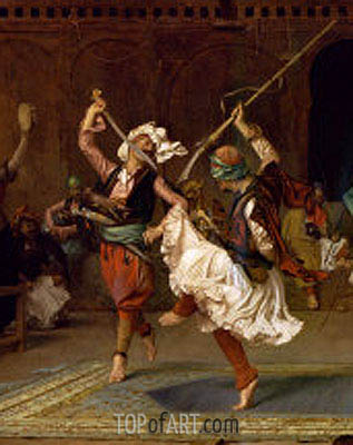 The Pyrrhic Dance (Detail), 1885 | Gerome | Gemälde Reproduktion