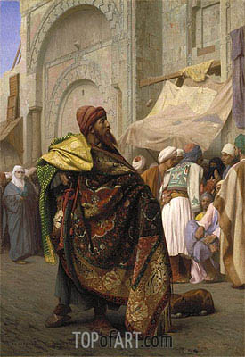 The Carpet Merchant of Cairo, 1869 | Gerome | Gemälde Reproduktion
