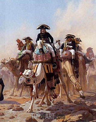 Napoleon and His General Military Staff in Egypt (Detail), 1867 | Gerome| Painting Reproduction