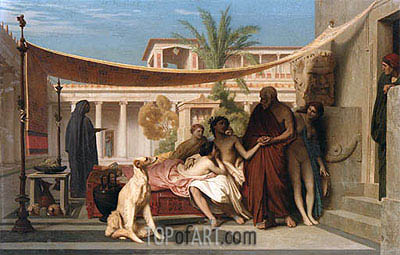 Socrates Seeking Alcibiades at the House of Aspasia, 1861 | Gerome| Painting Reproduction