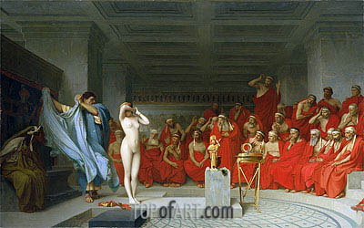 Phryne before the Areopagus, 1861 | Gerome | Painting Reproduction