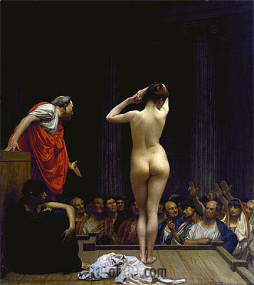 A Roman Slave Market, c.1884 | Gerome| Painting Reproduction