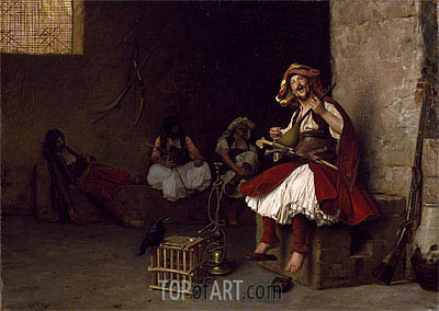 Bashi-Bazouk Singing, 1868 | Gerome| Painting Reproduction