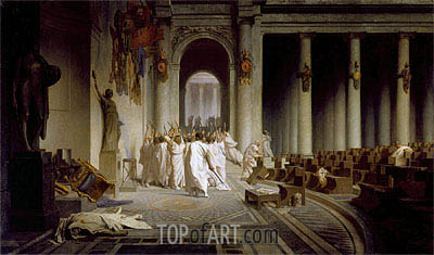The Death of Caesar, c.1859/67 | Gerome | Painting Reproduction