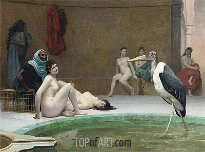 Moorish Bath (Le Marabout), c.1889 | Gerome| Painting Reproduction