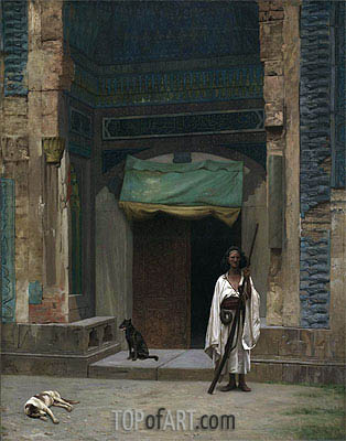 Gerome | Portal of the Green Mosque (Sentinel at the Sultan's Tomb), c.1870