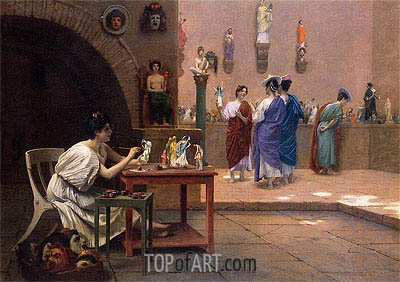 Tanagra's Studio, undated | Gerome | Painting Reproduction