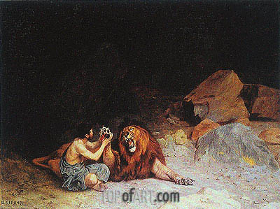 Androcles and the Lion, undated | Gerome | Painting Reproduction