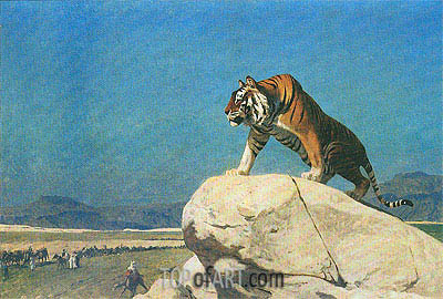 Tiger on the Lookout, undated | Gerome | Painting Reproduction