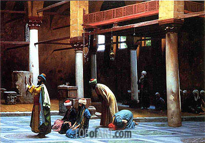Prayer in a Mosque, 1892 | Gerome | Painting Reproduction