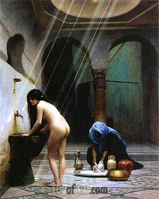 A Moorish Bath (Turkish Woman Bathing), 1870 | Gerome| Painting Reproduction