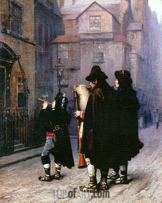 Pifferari in London, 1870 | Gerome | Gemälde Reproduktion