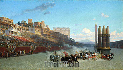 Chariot Race (Circus Maximus), 1876 | Gerome | Gemälde Reproduktion