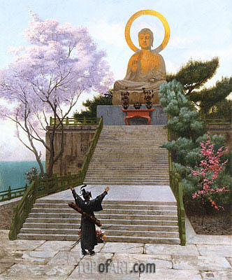 Japanese Imploring a Divinity, undated | Gerome | Painting Reproduction