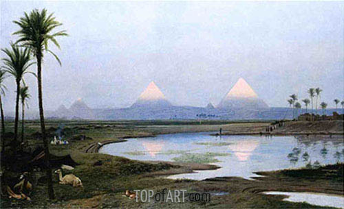 The Pyramids, Sunrise, 1895 | Gerome| Painting Reproduction