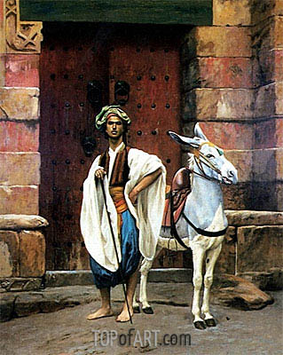 Sais and His Donkey, undated | Gerome | Painting Reproduction