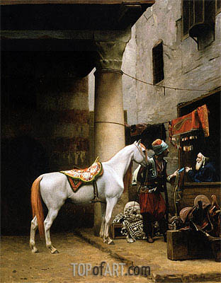 Gerome | The Saddle Bazaar, Cairo (Arab Purchasing a Bride), 1881