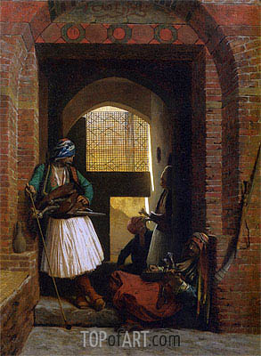Arnauts of Cairo at the Gate of Bab el Nasr, 1861 | Gerome| Painting Reproduction