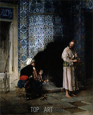 Gerome | Conversation by the Fire, 1881