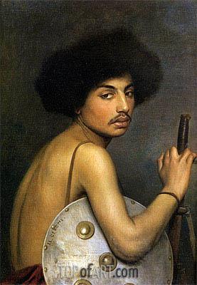 Bisharin Warrior, 1872 | Gerome | Painting Reproduction