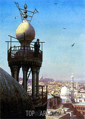 Gerome | A Muezzin Calling the Faithful to Prayer, 1878