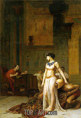 Cleopatra Before Caesar, 1866 | Gerome | Gemälde Reproduktion