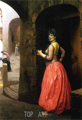 Woman from Cairo Smoking a Cigarette, 1882 | Gerome | Painting Reproduction