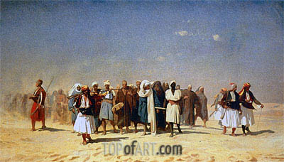 Gerome | Egyptian Recruits Crossing the Desert, 1857