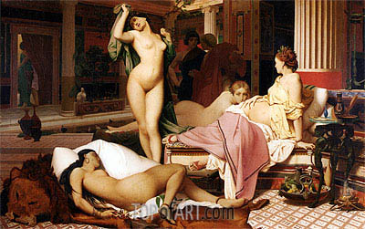 Greek Interior, 1850 | Gerome| Painting Reproduction