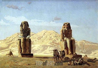 Memnon and Sesostris, 1856 | Gerome| Painting Reproduction