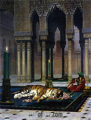 Gerome | Pain of the Pasha - the Dead Tiger, 1885