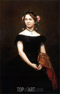 Gerome | Portrait of Mademoiselle Durand, 1853