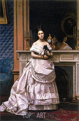 Portrait of Marie Gerome, 1870 | Gerome| Painting Reproduction